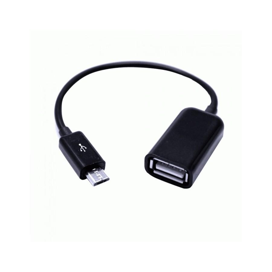 Cable OTG Adaptador USB para móviles / Negro