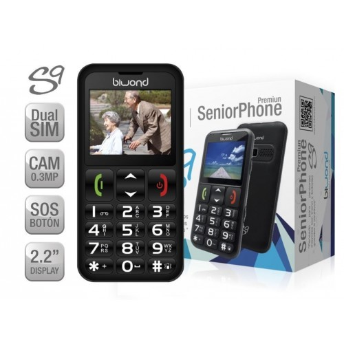 Móvil Biwond S9 / Seniorphone / Dual SIM / Camara / Flash