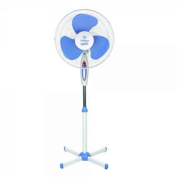 Ventilador de Pie KRIFAN USSFF-831 con 45W de potencia, diametro de 40cm y de color Azul