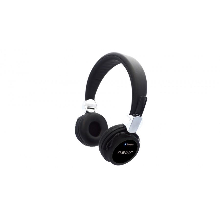 Auricular Nevir NVR-941BH con Bluetooth y ranura para tarjeta MicroSD de color Negro