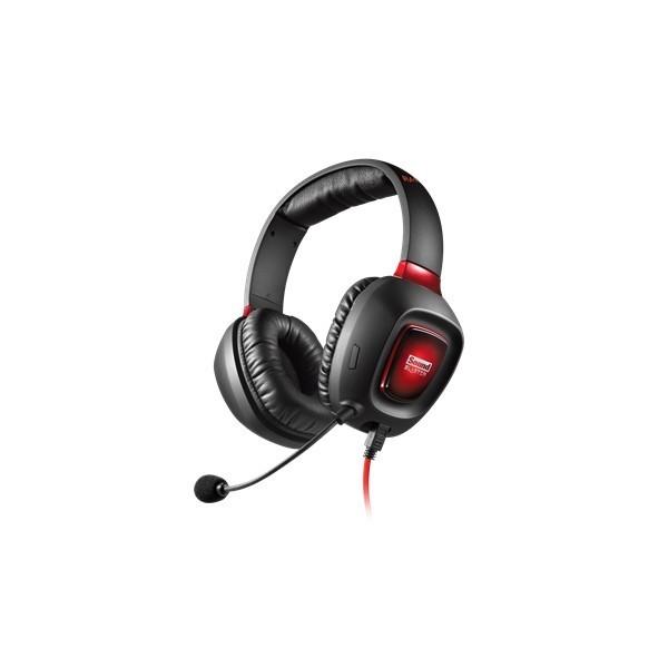 Auricular Creative Sound Blaster Tactic3D Rage iluminado y controles integrados.
