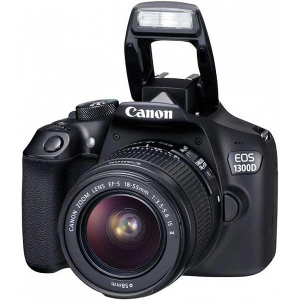 Cámara Canon EOS 1300D Reflex + Lente 18-55 DC + Funda + SD 8GB