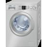 Lavadora Bosch WAQ2448XES Carga frontal de 8kg a 1200rpm de color Inox y A+++