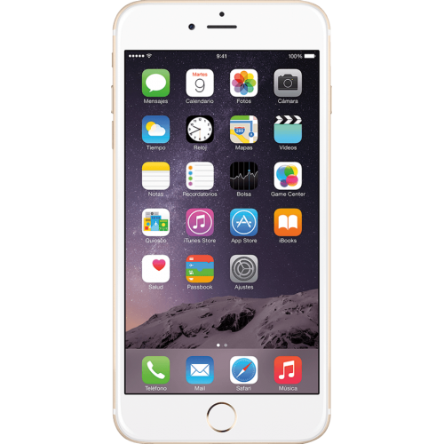 "Móvil iPhone 6 Plus MGA92ZD/A de 16GB, Pantalla de 5.5"", con cámara de 8 mpx, color Plata"
