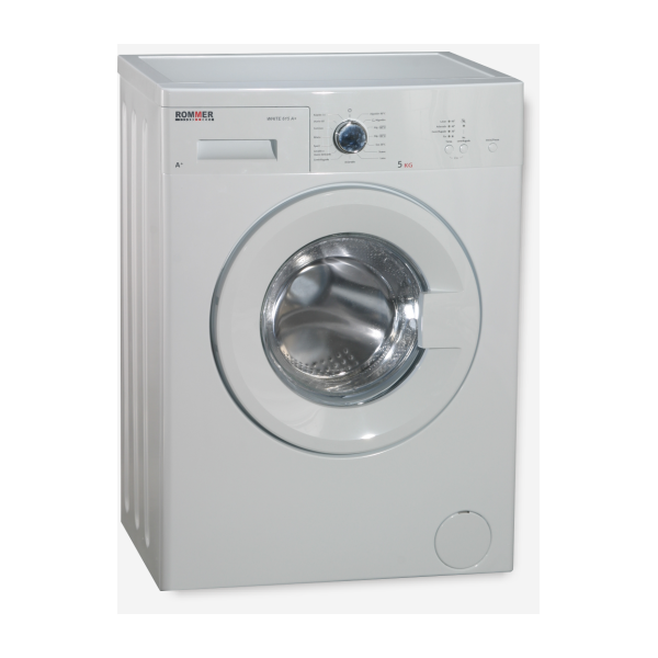 Lavadora Rommer 615, Carga Frontal 5Kg, 600rpm, A+ y color Blanco