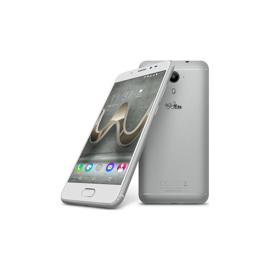 """Móvil Wiko U FEEL Prime 5"""" , Android 4G, Full HD, Almacenamiento 32GB, 4GB de RAM, Dual Sim y color Silver"""