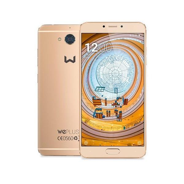 """Móvil Weimei WE Plus 2, Smartphone 5.5"""", 4GB de RAM, Almacenamiento 64GB, 4G, Cámara 13 Mpx, Octa Core, Dual Sim y color Oro"""