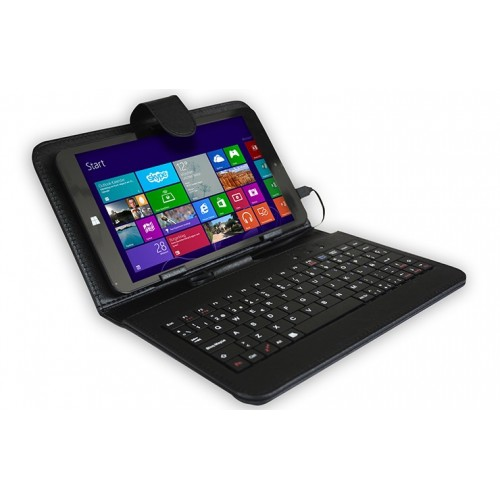 "Tablet Billow X800, 8"" Intel 16GB de Almacenamiento, 1GB de RAM, Teclado, Windows 8.1, color Negro"