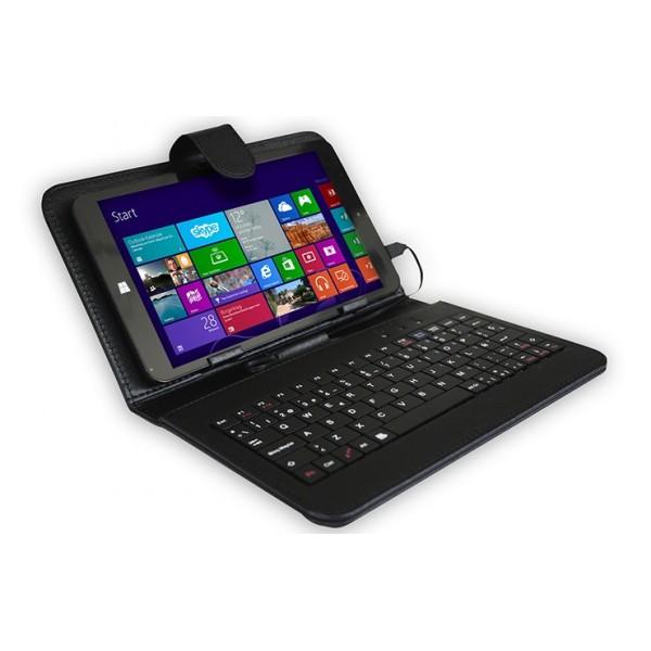 """Tablet Billow X800, 8"""" Intel 16GB de Almacenamiento, 1GB de RAM, Teclado, Windows 8.1, color Negro"""