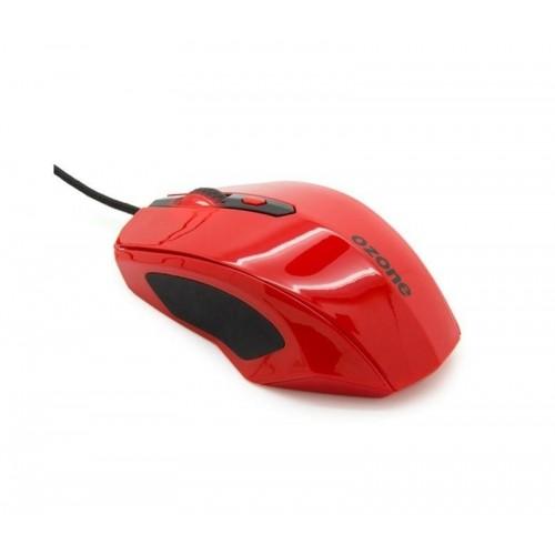 Ratón Gaming Ozone Xenón 3500dpi, óptico, ambidiestro y de color rojo