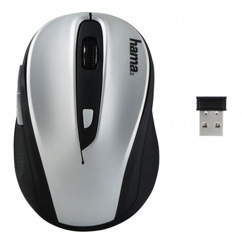 Ratón Hama AM-8200, inalámbrico y color negro - plata
