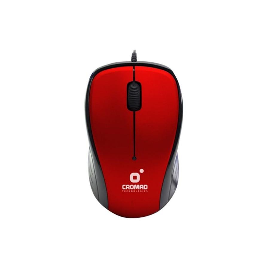 Ratón cable Cromad, con USB 2.0 color rojo