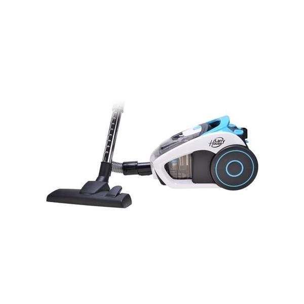 Aspiradora Larry House LH1403, 700W, silenciosa, control de velocidad y color negro-azul