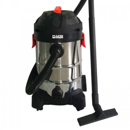 Aspiradora Aicer AC1027, húmedo - seco, 30 Litros de capacidad, Inox y 1400w