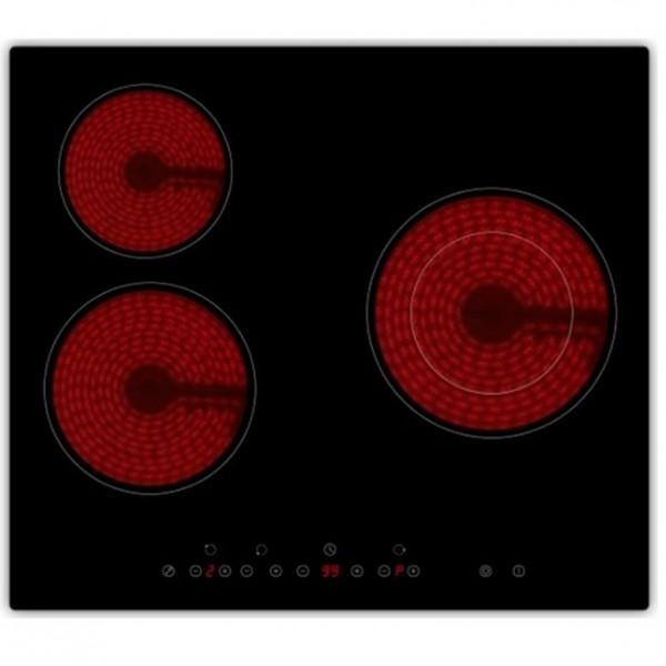 Vitroceramica Midea MC-HT-521, 3 Fuegos, 59x55x5.2cms, LED y 5300w