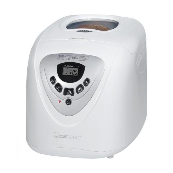 Panificadora Clatronic BBA 3505, automática, antiadherente, 2Litros, control electrónico y 600w