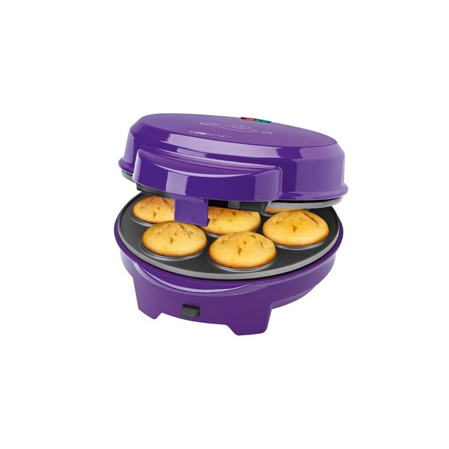 Máquina para hacer Magdalenas Donut Rosquillas Cakepops Clatronic DMC 3533, 700w y color morado
