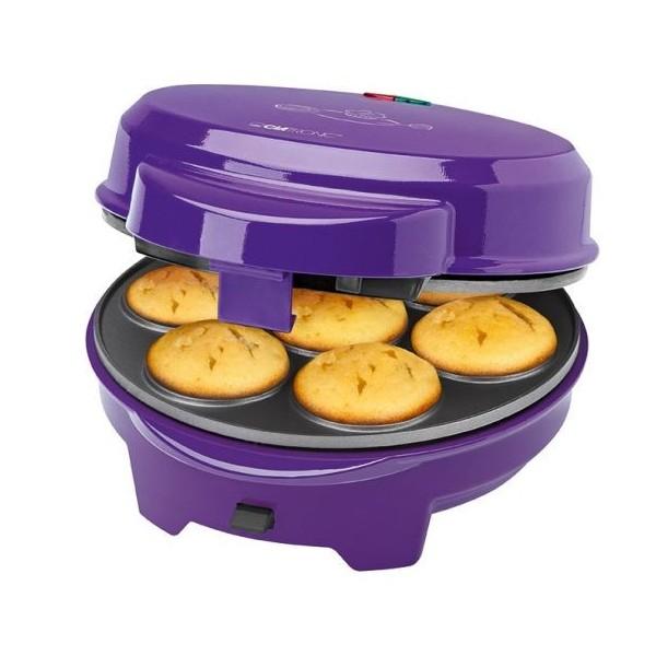 Máquina para hacer Magdalenas, Donut, Rosquillas, Cakepops Clatronic DMC 3533, 700w y color morado