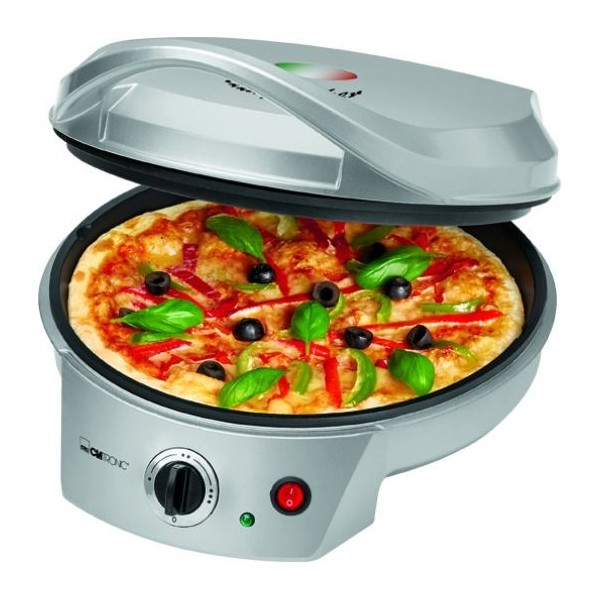 Pizzera Clatronic PM 3622, termostato, antiadherente y 1800w