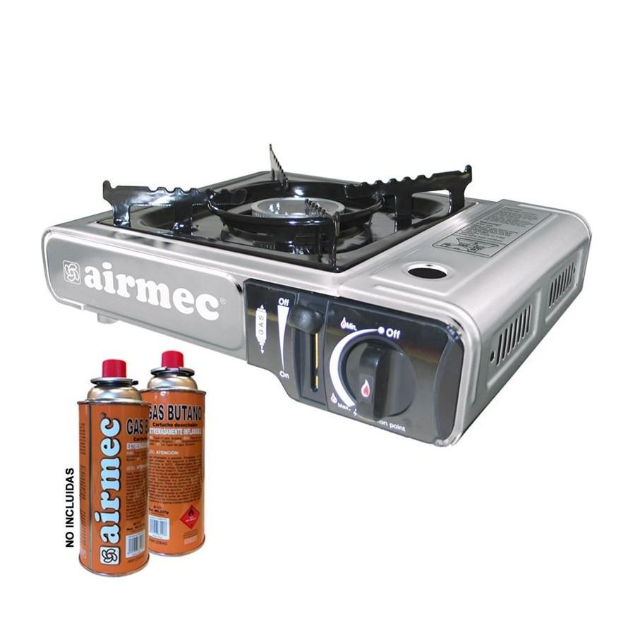 Cocina airmec am120332 de gas portatil bombona for Cocina de gas portatil