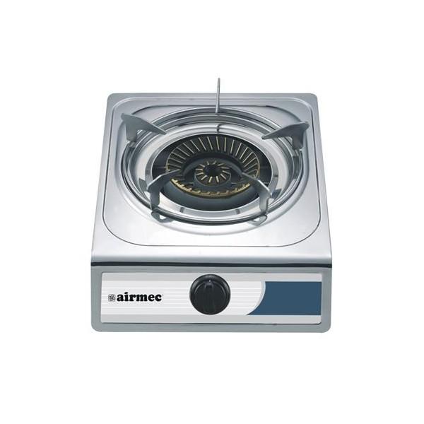 Cocina Airmec de Gas con 1 Fuego INOX