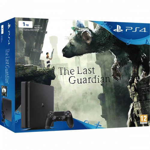 Consola PS4 Slim 1TB + The last guardian Jet Black