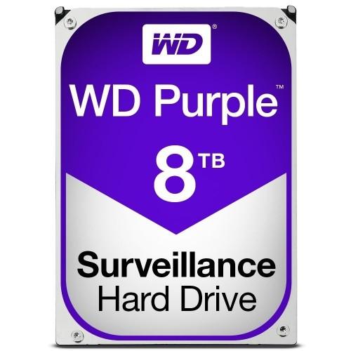 """Disco Duro Interno WD WD80PUZX-64NEY0 3.5"""", Sata3, 8TB de capacidad, 5400rpm, 128MB de Búfer y color purple"""