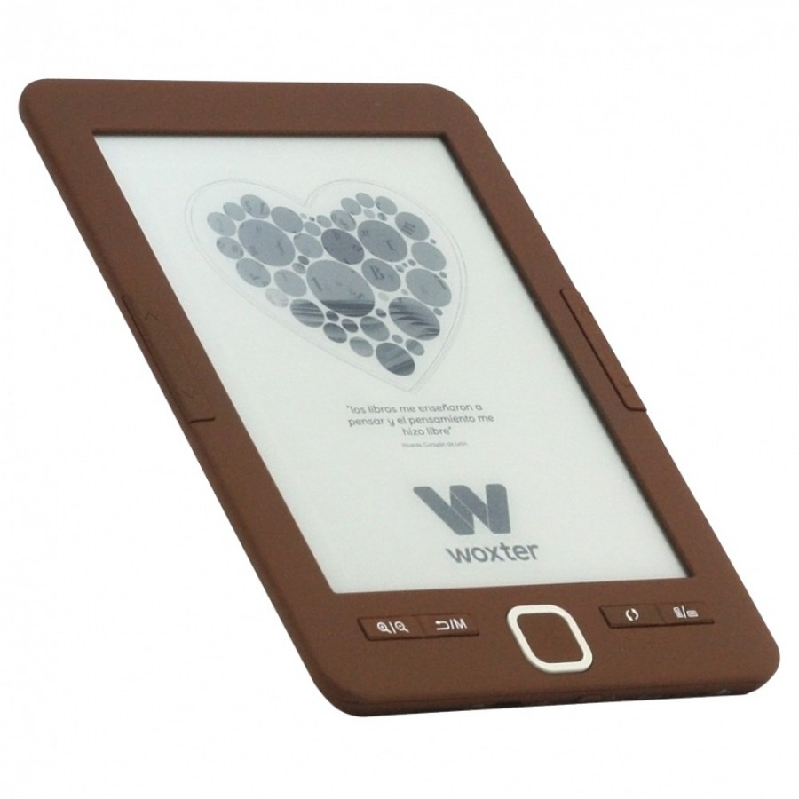 "eBook Woxter Scriba 195, 6"", 4GB de almacenamiento y color Chocolate"