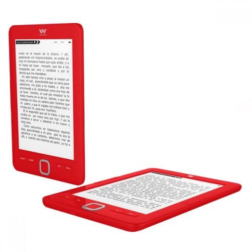 """eBook Woxter Scriba 195 E-Ink Pearl, 6"""", 4GB de almacenamiento, más de 2000 ebooks, HD y color Rojo"""