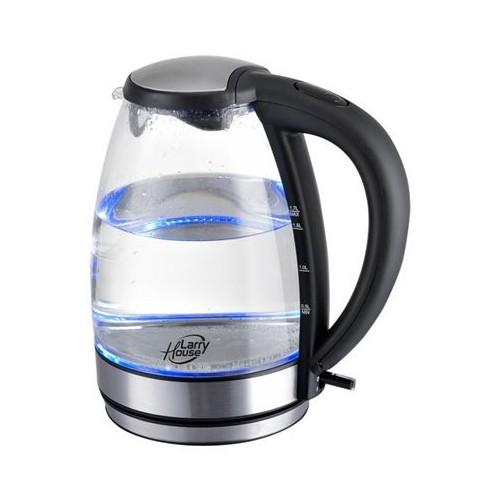 Hervidor de agua Larry House LH1382 de 1.7 Litros, jarra de cristal, potencia 2.200 w.