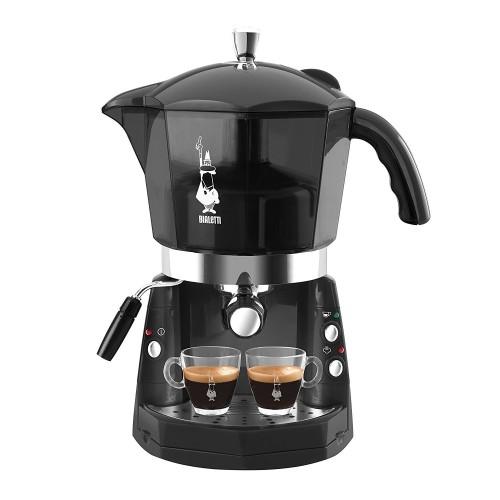 Cafetera express Bialetti Mokona, eléctrica, depósito de 1.5Litros, 1250w y color Negro