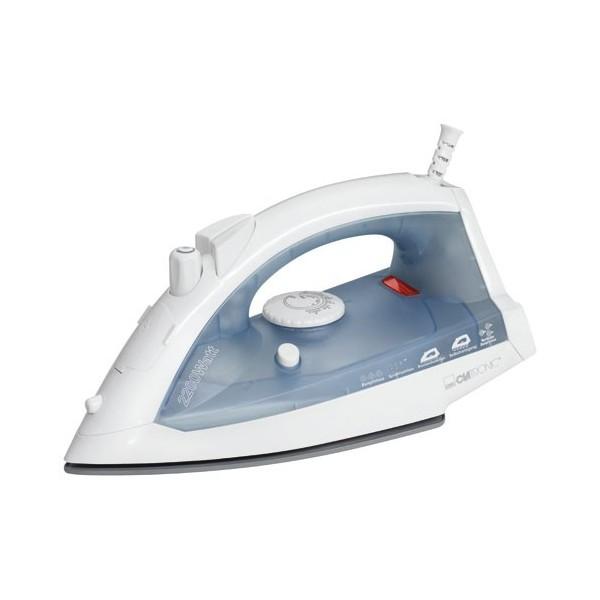 Plancha de vapor Clatronic 3485, control de temperatura, vapor vertical, 2200w y color Blanco - Azul