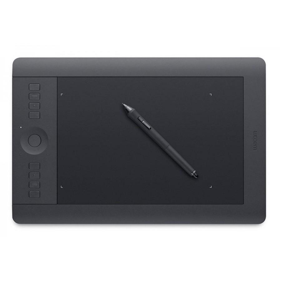 Tableta gráfica Wacom Intuos Pro M, multitáctil, inalámbrica, con lápiz, color negro