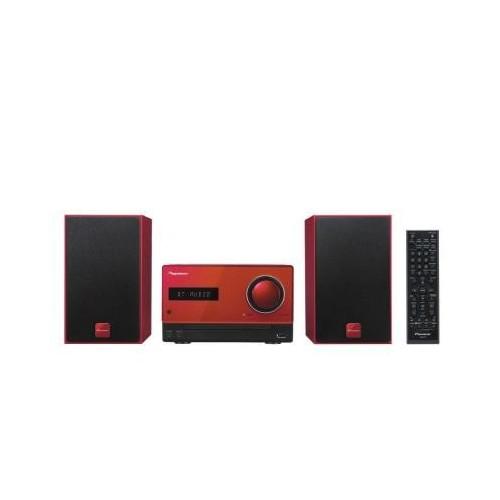 Microcadena  Pioneer X-CM35R Rojo Lector CD, Bluetooth, NFC y USB