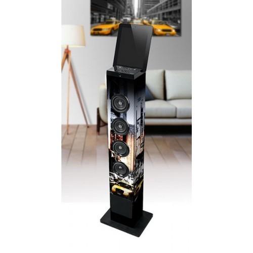Torre de sonido Muse M-1200 NY, 60w, Bluetooth, USB, sintonizador FM, SD, Aux y color Negro