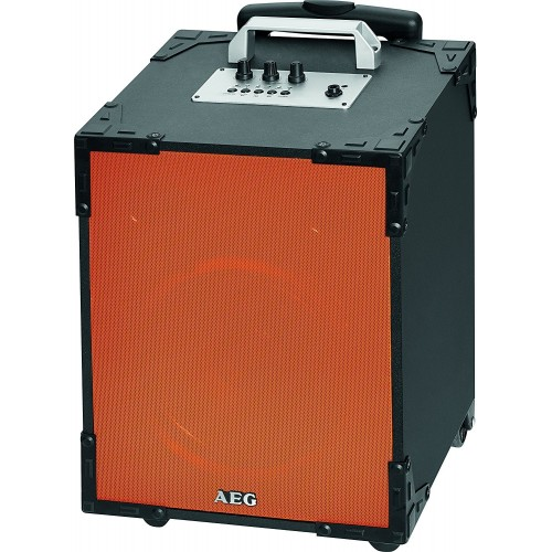 Altavoz portátil Aeg EC483, Bluetooth, RMS, función Karaoke, 80w y color Naranja