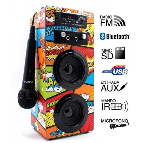 Reproductor Biwond Joybox Karaoke Bluetooth USB FM Comic