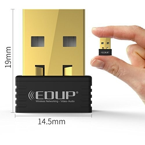 Adaptador Wifi Edup EP-N8553 Wireless-Nano, USB, 150Mbps, 802.11n