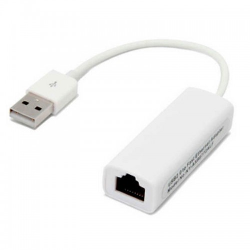 Adaptador Cromad USB2.0 a Ethernet Rj45 10/100 Mbps y color Blanco