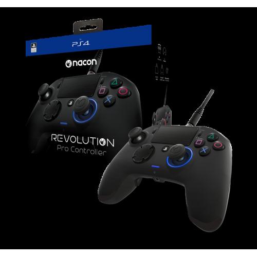Mando Nacon PS4 Revolution Pro Controler, 4 accesos directos, Negro