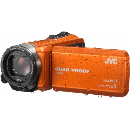 Cámara Vídeo JVC GZ-R415BEU Quad Proof, Full HD, HDMI, Sumergible y color Naranja