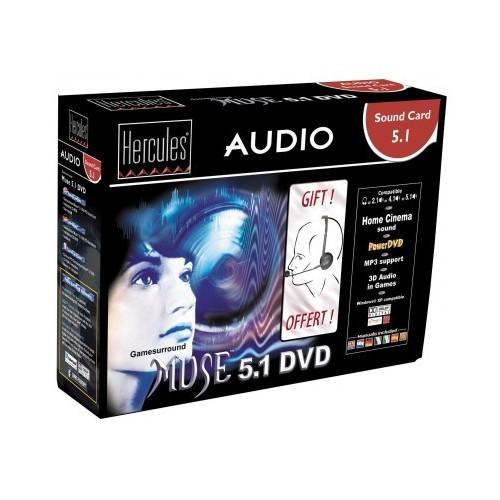 Tarjeta de Sonido Hercules Audio 5.1 Muse 5.1,Dvd
