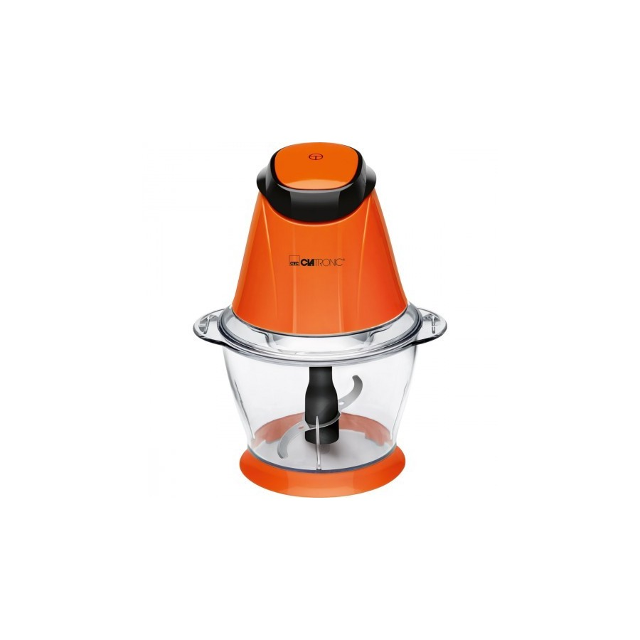 Picadora Multiusos Clatronic MZ 3579, 1 Litro, Potencia 250 W y color naranja