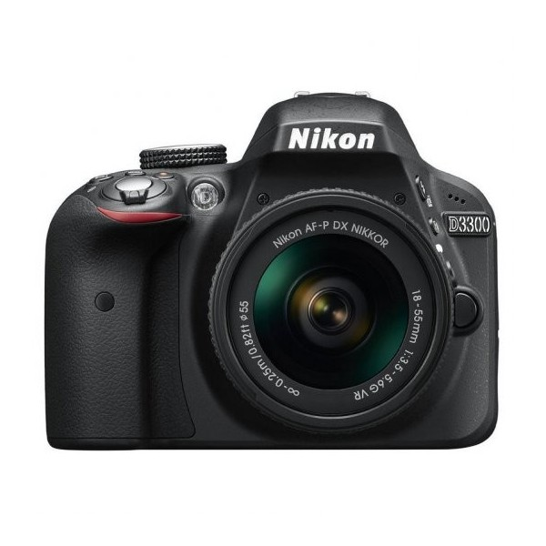 Nikon D3300 Cámara DSLR con Objectivo VR II de 18-55mm color Negro