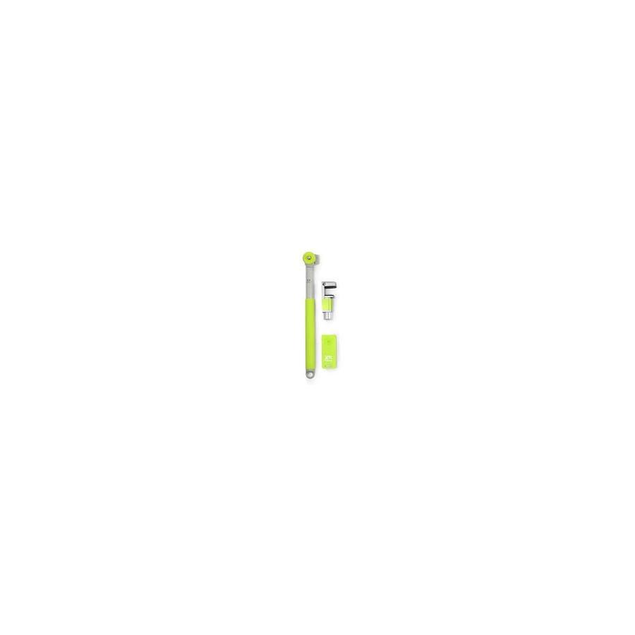 Palo selfie - XSories Me-Shot Deluxe 2.0, Bluetooth, Blanco/Verde