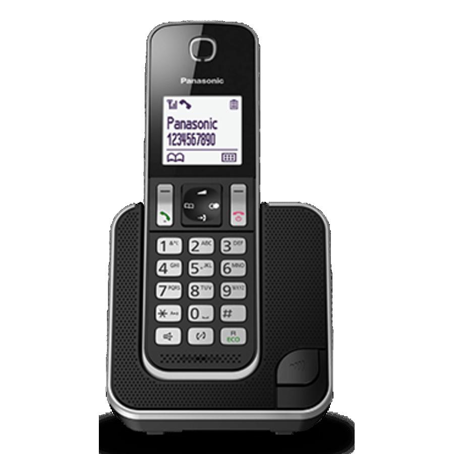 Teléfono Panasonic KX TGD310SPS, con bloqueo de llamadas, negro