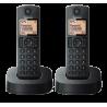 Teléfono Panasonic KX-TGC 312 SPB, duo, negro