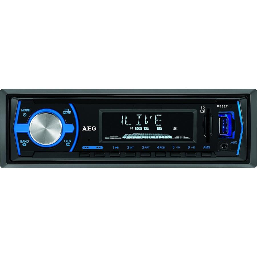 Autoradio AEG AR 4030, Bluetooth,USB lector de tarjeta SD