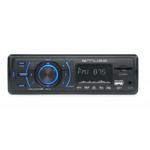 Autorradio Muse M-090 MR,Potencia de 80 W,Pantalla LCD multifunción