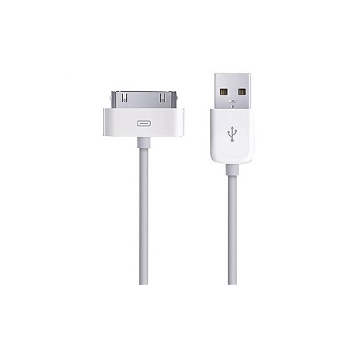 Cable  Apple de 30 clavijas Original color Blanco.
